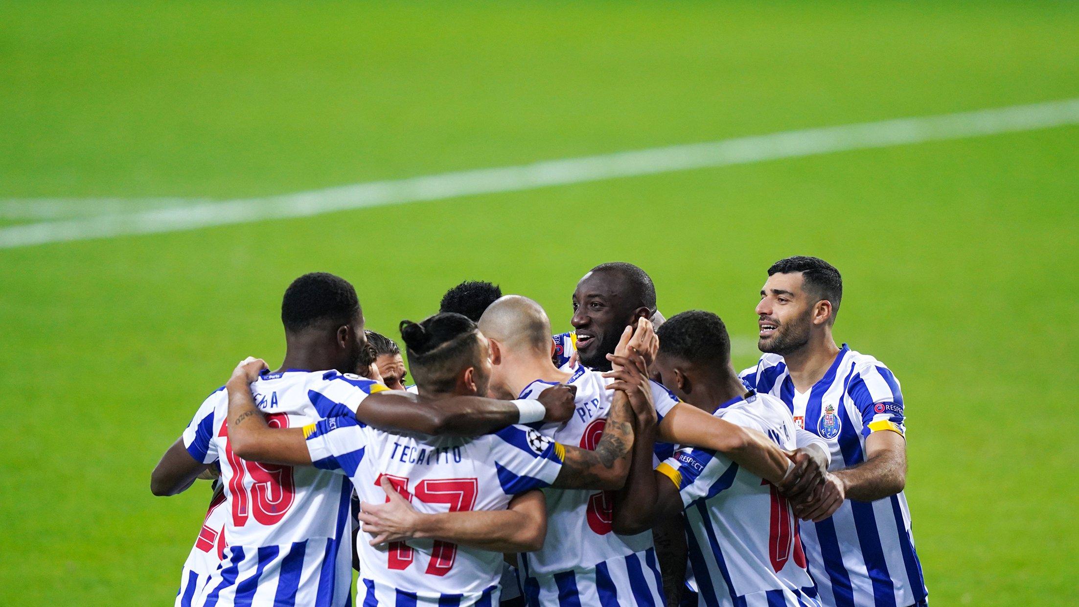 El FC Porto celebra la victoria en el partido de vuelta ante la Juventus
