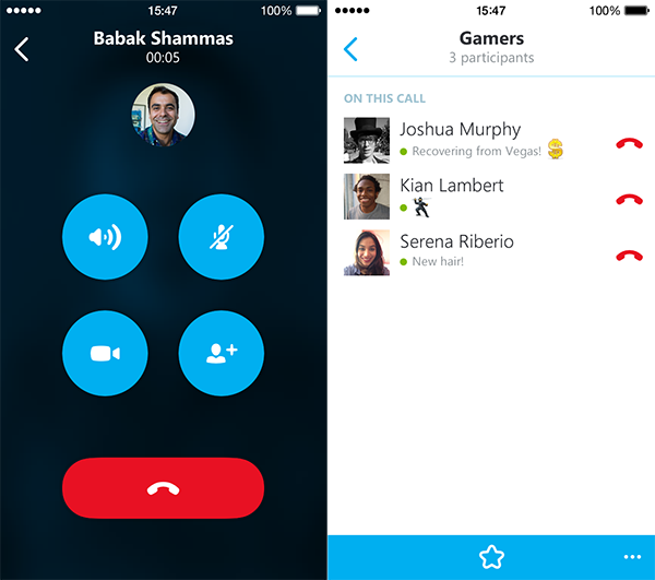 Skype para iPhone 5.4