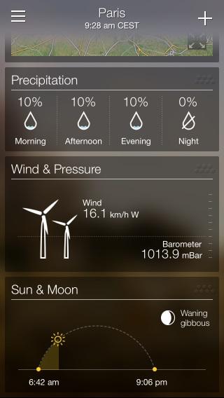 Yahoo!  El clima tiene mucha información para que los usuarios experimentados puedan investigar