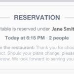 La actualización 6.4 de Facebook te permite hacer reservas en restaurantes a través de OpenTable