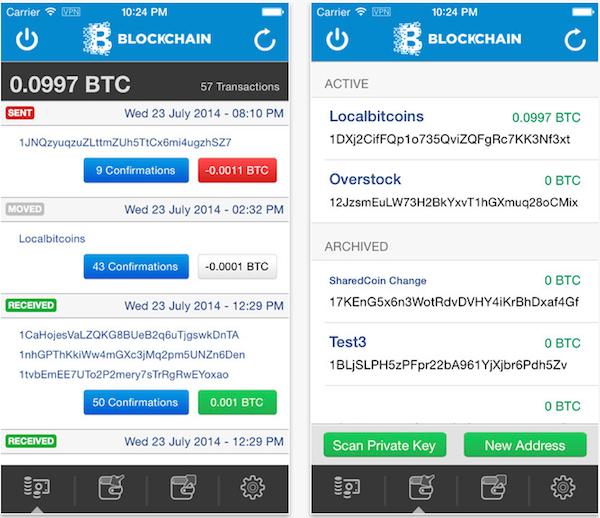 Aplicación IOS Blockchain