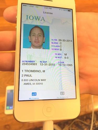 imagen de la licencia de conducir digital