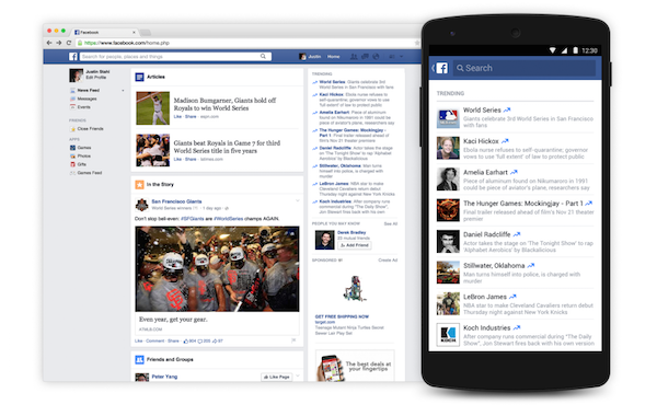 Imagen de actualización de tendencia de Facebook