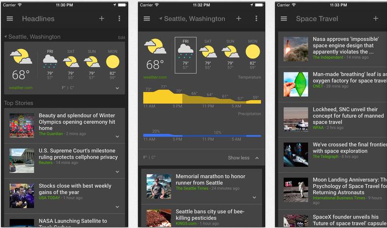 Noticias y clima de Google