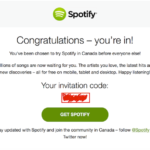 Se insta a los canadienses a probar Spotify antes del lanzamiento público
