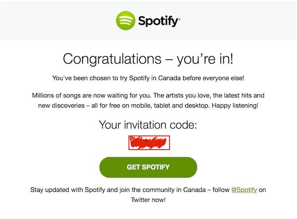 Spotify canadiense