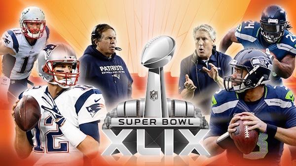 Imagen de transmisión del Super Bowl XLIX