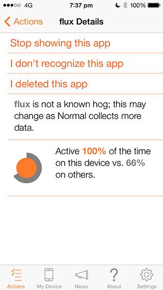 Análisis de batería normal: flujo