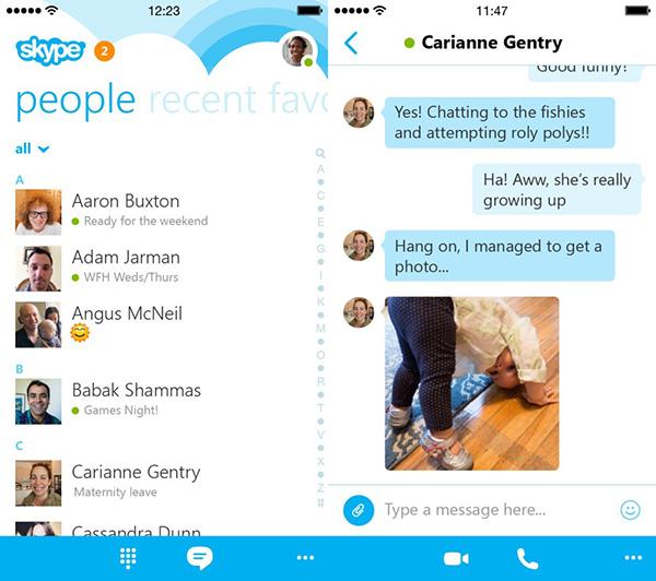 Skype 5.0 para iPhone