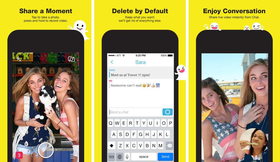 Snapchat 7.0.0 con chat de mensajes de texto y videollamadas aquí